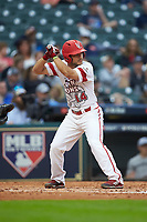 Kennon Fontenot (14) of the Louisiana Ragin' Cajuns at bat against the Vanderbilt Commodores in game five of the 2018 Shriners Hospitals for Children College Classic at Minute Maid Park on March 3, 2018 in Houston, Texas.  The Ragin' Cajuns defeated the Commodores 3-0.  (Brian Westerholt/Four Seam Images)