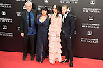 """The director of the film, James Foley, the writer of the book Erika Leonard Mitchell, american actress Dakota Johnson and british actor Jamie Dornan attends to the premiere of the film """"Fifty Shades Darker"""" at Kinepolis Cinemas in Madrid. February 08, 2017. (ALTERPHOTOS/Borja B.Hojas)"""