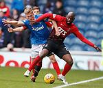05.05.2018 Rangers v Kilmarnock: Ross McCrorie and Youssouf Mulumbu