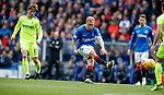 05.05.2019 Rangers v Hibs: Scott Arfield grazes the crossbar with his effort