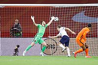 AMSTERDAM, 07-09-2020, JohanCruyff Stadium, season 2020 / 2021 . Nations Leaque game between Netherlands and Italy. Italian player Nicolò Barella (r) scoring the 0-1. Netherlands goalkeeper Jasper Cillessen  <br /> Gol<br /> Amsterdam 07-09-2020 <br /> Football Calcio Uefa Nations League <br /> Olanda - Italia / Netherlands - Italy <br /> Photo Stanley Gontha / Pro Shots / Insidefoto <br /> ITALY ONLY