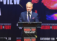 LOS ANGELES - DECEMBER 13:  Jimmy Lennon Jr. at the Fox Sports Deontay Wilder vs Tyson Fury II Los Angeles Press Conference on January 13, 2020 at The Novo by Microsoft at L.A. Live in Los Angeles, California. (Photo by Scott Kirkland/Fox Sports/PictureGroup)
