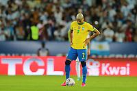 10th July 2021, Estádio do Maracanã, Rio de Janeiro, Brazil. Copa America tournament final, Argentina versus Brazil;  Richarlison of Brazil