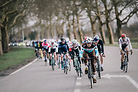 Alexis Gougeard (FRA/AG2R - La Mondiale) pacing the pack<br /> <br /> 51th Le Samyn 2019 <br /> Quaregnon to Dour (BEL): 200km<br /> <br /> ©kramon