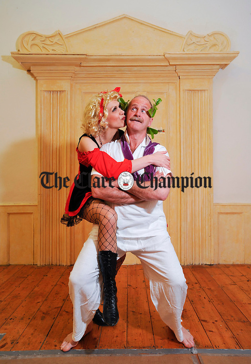 """Adrienne Tuba as Erica and Brendan Daly as Richard in rehearsals for the Tulla Drama Group's production of """"Canaries"""" by Bernard Farrell which runs at the Courthouse, Tulla on March 13th, 14th and 15th at 8.30p.m. nightly. Photograph by John Kelly."""