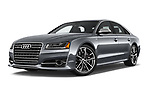 Stock pictures of low aggressive front three quarter view of a 2018 Audi S8 Plus quattro Tiptronic 4 Door Sedan