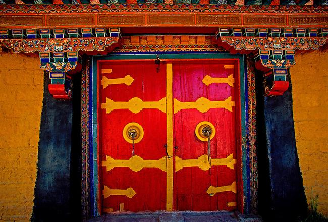 Entrance to Norbulingka Park, Lhasa, Tibet Autonomous Region, China, Asia