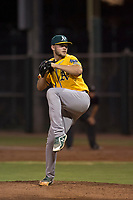 AZL Athletics relief pitcher Osvaldo Berrios (40) delivers a pitch during an Arizona League game against the AZL Giants Black at the San Francisco Giants Training Complex on June 19, 2018 in Scottsdale, Arizona. AZL Athletics defeated AZL Giants Black 8-3. (Zachary Lucy/Four Seam Images)