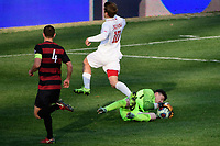 Chester, PA - Sunday December 10, 2017: Justin Rennicks, Nico Corti. Stanford University defeated Indiana University 1-0 in double overtime during the NCAA 2017 Men's College Cup championship match at Talen Energy Stadium.