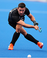 Kane Russell during the Pro League Hockey match between the Blacksticks men and Great Britain, National Hockey Arena, Auckland, New Zealand, Saturday 8 February 2020. Photo: Simon Watts/www.bwmedia.co.nz