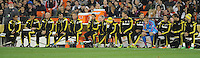 Washington D.C. - March 8, 2014: Columbus Crew Bench during the game. The Columbus Crew defeated D.C. United 3-0 during the opening game of the 2014 season at RFK Stadium.