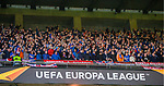 26.02.2020 SC Braga v Rangers: Rangers fans bouncing after Ryan Kent's goal