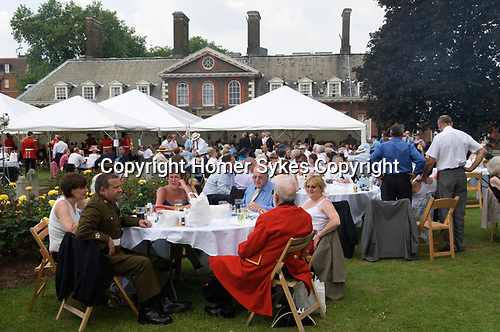 Chelsea Pensioners London. The Founders Day annual garden party London England. 2006.