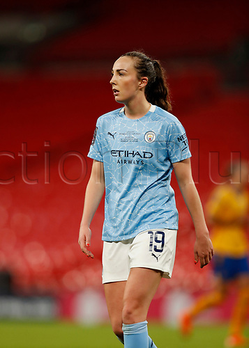 1st November 2020; Wembley Stadium, London, England; Womens FA Cup Final Football, Everton Womens versus Manchester City Womens; Jess Park of Manchester City Women