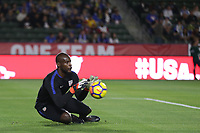 Carson, CA - Sunday January 28, 2018: Bill Hamid prior to an international friendly between the men's national teams of the United States (USA) and Bosnia and Herzegovina (BIH) at the StubHub Center.