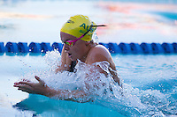 Santa Clara, California - Saturday June 4, 2016: Georgia Bohl races in the Women's 200 LC Meter Breaststroke at the Arena Pro Swim Series at Santa Clara A final.