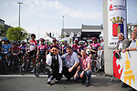 Ready for the start of the 2018 Liege-Bastogne-Liege Femmes running 136km from Bastogne to Ans, Belgium. 22nd April 2018.<br /> Picture: ASO/Thomas Maheux | Cyclefile<br /> All photos usage must carry mandatory copyright credit (© Cyclefile | ASO/Thomas Maheux)