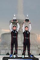 #01 Cadillac Chip Ganassi Racing Cadillac DPi, DPi: Renger van der Zande, Kevin Magnussen, Winners Victory Lane