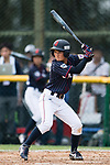 #52 Yoshii Harue of Japan bats during the BFA Women's Baseball Asian Cup match between South Korea and Japan at Sai Tso Wan Recreation Ground on September 2, 2017 in Hong Kong. Photo by Marcio Rodrigo Machado / Power Sport Images