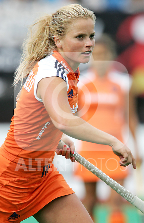 Netherlands' Fatima Moreira de Melo during Samsung Women's World Cup Hockey Pool A match between Netherlands and Germany at Club de Campo in Madrid, Tuesday 03 October, 2006. (ALTERPHOTOS/Alvaro Hernandez).