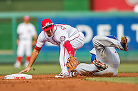 15 June 2016: Washington Nationals shortstop Danny Espinosa in action against the Chicago Cubs at Nationals Park in Washington, DC. The Nationals defeated the Cubs 5-4 in 12 innings to take the rubber match of their 3-game series. Mandatory Credit: Ed Wolfstein Photo *** RAW (NEF) Image File Available ***