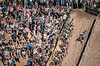 climbing out of the infamous Zonhoven 'Kuil' (or 'Pit')<br /> <br /> Elite Men's Race<br /> CX Super Prestige Zonhoven 2017