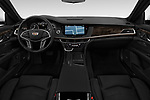 Stock photo of straight dashboard view of 2019 Cadillac CT6 Luxury 4 Door Sedan Dashboard