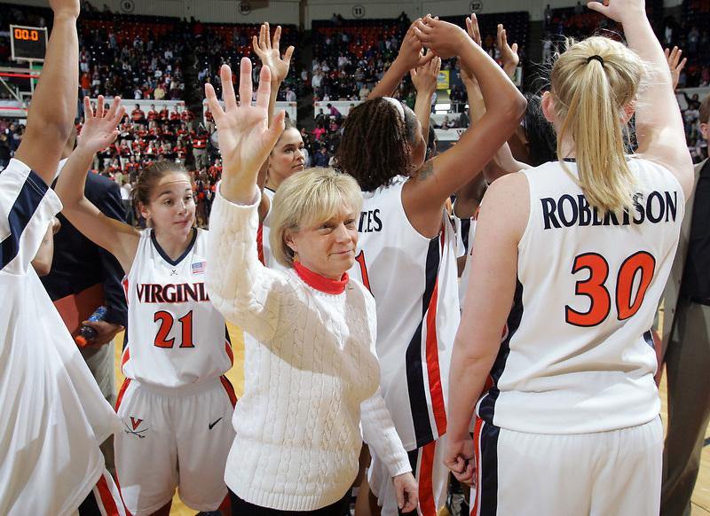 Virginia Cavaliers head basketball coach Debbie Ryan at the University of Virginia in Charlottesville, VA. Photo/Andrew Shurtleff