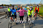 Mary Fitzgerald giving Fergal Grimes and Linda Woods a push start as they take to the road for their Comfort for Chemo fundraiser at the UHK on Saturday morning. L to r:  Fergal Grimes, Mary Fitzgerald and Linda Woods.  Back l to r: Tony Callaghan, Janet Slye, Colette O'Dowd, Angela O'Mahoney and Zack Boyle.