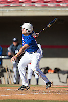 Charlie Concannon (15) of Rustin High School in West Chester, Pennsylvania playing for the Texas Rangers scout team at the South Atlantic Border Battle at Doak Field on November 2, 2014.  (Brian Westerholt/Four Seam Images)
