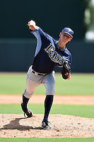 Tampa Bay Rays pitcher Spencer Moran (41) during an Instructional League game against the Baltimore Orioles on September 15, 2014 at Ed Smith Stadium in Sarasota, Florida.  (Mike Janes/Four Seam Images)