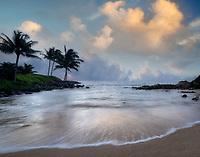 Keiki Beach Sunrise. Kauai, Hawaii