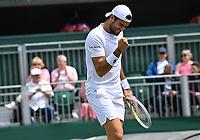 5th July 2021, Wimbledon, SW London, England; 2021 Wimbledon Championships, day 7; Matteo Berrettini , Italy