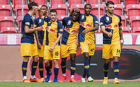 25th August 2020, Red Bull Arena, Slazburg, Austria; Pre-season football friendly, Red Bull Salzburg versus Liverpool FC;  Goal celebrations for 2:0 from Patson Daka FC Red Bull Salzburg
