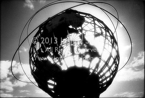 Unisphere in silhouette<br />