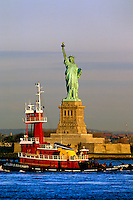 "#JP0940 ""Statue of Liberty & Tugboat - New York NY"