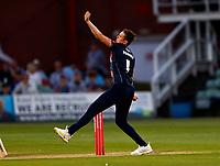 Harry Podmore bowls for Kent during Kent Spitfires vs Sussex Sharks, Vitality Blast T20 Cricket at The Spitfire Ground on 18th July 2021