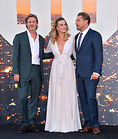 """LOS ANGELES, USA. July 23, 2019: Brad Pitt, Margot Robbie & Leonardo DiCaprio at the premiere of """"Once Upon A Time In Hollywood"""" at the TCL Chinese Theatre.<br /> Picture: Paul Smith/Featureflash"""