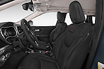 Front seat view of a 2017 Volkswagen Cherokee Trailhawk 4X4 5 Door SUV front seat car photos