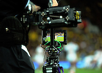 Sky steadicam operator Rhys Duncan in action during the Super Rugby semifinal match between the Hurricanes and Chiefs at Westpac Stadium, Wellington, New Zealand on Saturday, 30 July 2016. Photo: Dave Lintott / lintottphoto.co.nz