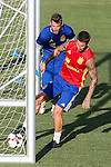 Spanish Sergio Ramos and David De Gea during the first training of the concentration of Spanish football team at Ciudad del Futbol de Las Rozas before the qualifying for the Russia world cup in 2017 August 29, 2016. (ALTERPHOTOS/Rodrigo Jimenez)