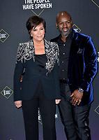 SANTA MONICA, USA. November 11, 2019: Kris Jenner & Corey Gamble at the 2019 E! People's Choice Awards at Santa Monica Barker Hangar.<br /> Picture: Paul Smith/Featureflash