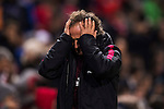 Fitness coach Oscar Ortega of Atletico de Madrid reacts during their La Liga match between Atletico de Madrid and Real Madrid at the Vicente Calderón Stadium on 19 November 2016 in Madrid, Spain. Photo by Diego Gonzalez Souto / Power Sport Images
