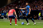 Atletico de Madrid's Santiago Arias and Club Brugge's Clinton Mata during UEFA Champions League match between Atletico de Madrid and Club Brugge at Wanda Metropolitano Stadium in Madrid, Spain. October 03, 2018. (ALTERPHOTOS/A. Perez Meca)