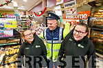 Sharon Lyne and Aisling O'Connor who starred in the viral video about a robbery in the shop along with owner David Power dressed as a Garda.