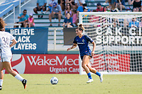 CARY, NC - SEPTEMBER 12: Cari Roccaro #21 of the NC Courage plays the ball during a game between Portland Thorns FC and North Carolina Courage at Sahlen's Stadium at WakeMed Soccer Park on September 12, 2021 in Cary, North Carolina.