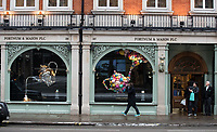 General view of FORTNUM & MASON PLC in Regent Street as Beast from the East weather continues at City of London, London, England on 1 March 2018. Photo by Andy Rowland.