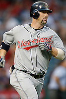 Trot Nixon of the Cleveland Indians during a game from the 2007 season at Angel Stadium in Anaheim, California. (Larry Goren/Four Seam Images)