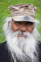 Old bearded man, Northwest Folklife Festival 2016, Seattle Center, Washington, USA.
