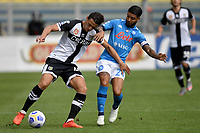 Roberto Inglese of Parma Calcio 1913 and Lorenzo Insigne of SSC Napoli compete for the ball during the Serie A football match between Parma Calcio 1913 and SSC Napoli at Ennio Tardini stadium in Parma (Italy), September 20th, 2020. Photo Andrea Staccioli / Insidefoto